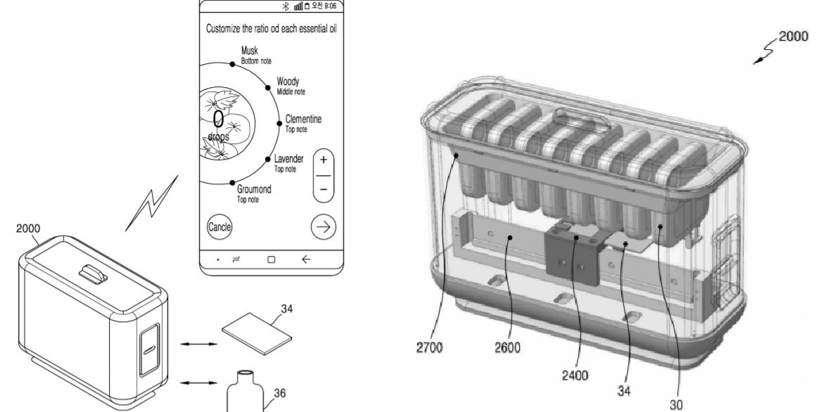 삼성전자, 소비자가 원하는 향수 직접 만드는 가전제품 특허