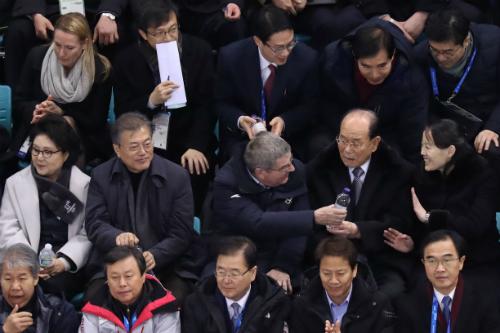 """""""북한언론 문재인과 김여정 만남 보도,"""