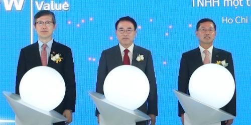 """신한카드 베트남법인 출범, 조용병 """"원 신한으로 여러 사업모델 구축"""""""