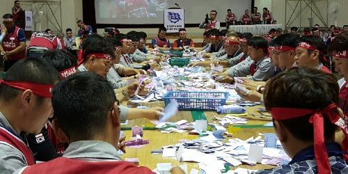 현대중공업 노조의 파업 찬반투표에서 87% 찬성으로 가결