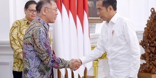 정의선, 인도네시아 대통령 만나 현대차그룹 진출방안 논의