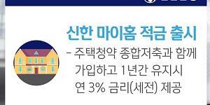 """""""신한은행, 주택청약저축 함께 가입하면 최대 3% 금리 주는 적금 내놔"""