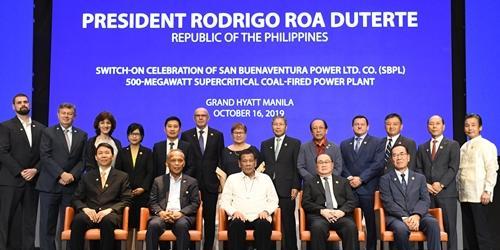 대림산업 필리핀 석탄화력발전소 준공식 열어, 필리핀 대통령도 참석