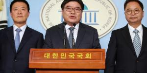민주당, 총선 험지에 출마할 김용진 김학민 황인성 입당식