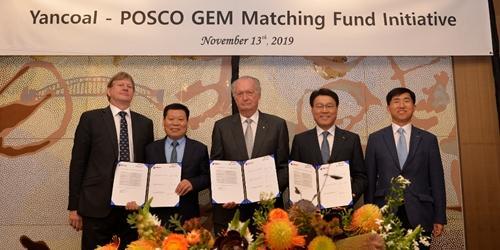 """""""포스코 호주 석탄기업과 인재육성 펀드 조성, 최정우"""