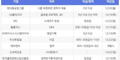 """""""[12월10일] 비즈니스피플 전문/경력직 채용정보"""
