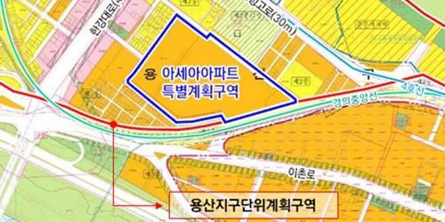 """""""서울시, 용산구 이촌로에 고층 아파트 짓는 도시계획안 가결"""