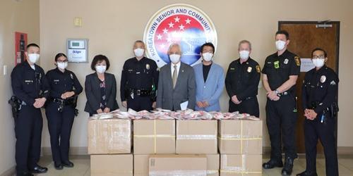 반도건설, 미국 로스앤젤레스 한인사회에 마스크 1만 장 기부
