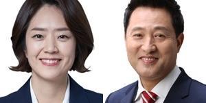 """""""서울 광진구을 민주당 고민정 50.9%, 통합당 오세훈 40.1%에 우세"""