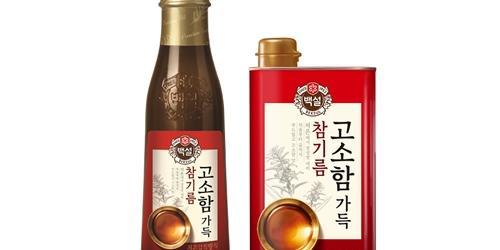 """""""CJ제일제당, 맛과 품질 강화한 '백설 고소함 가득 참기름' 새로 내놔"""