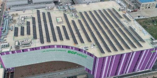 """""""한화큐셀, BGF리테일 물류센터 지붕에 대규모 태양광발전소 구축"""