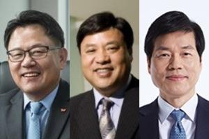 조정우 SK바이오팜 대표이사 사장(왼쪽), 서정진 셀트리온 회장(가운데), 김태한 삼성바이오로직스 대표이사 사장.