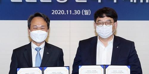 """""""진옥동 이우현, 신한은행과 OCI 신재생에너지사업 금융주선 협약"""
