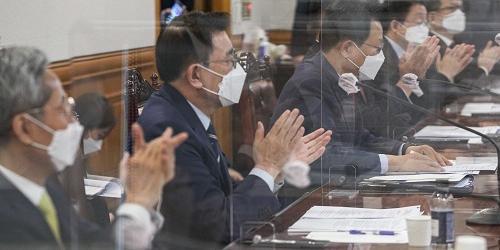 """""""금융지주 금융협회 민주당 간담회,"""