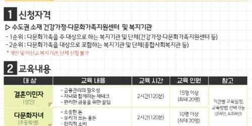"""""""우리다문화장학재단 다문화가정 경제교육 실시, 손태승"""