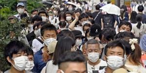 """""""일본 코로나19 하루 확진 3천 명대로 줄어, 중국 본토 포함 43명"""