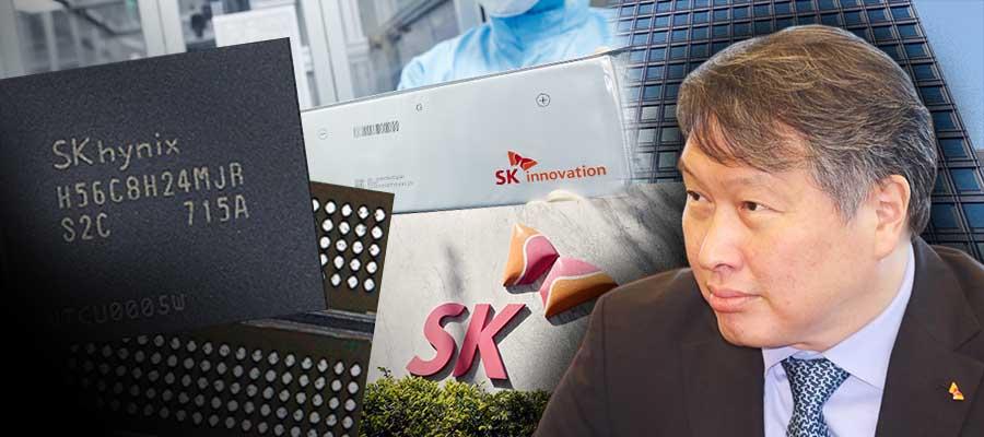 [오늘Who] 최태원 SK 반도체 배터리 '밸류체인', 일본 제재에 돋보여