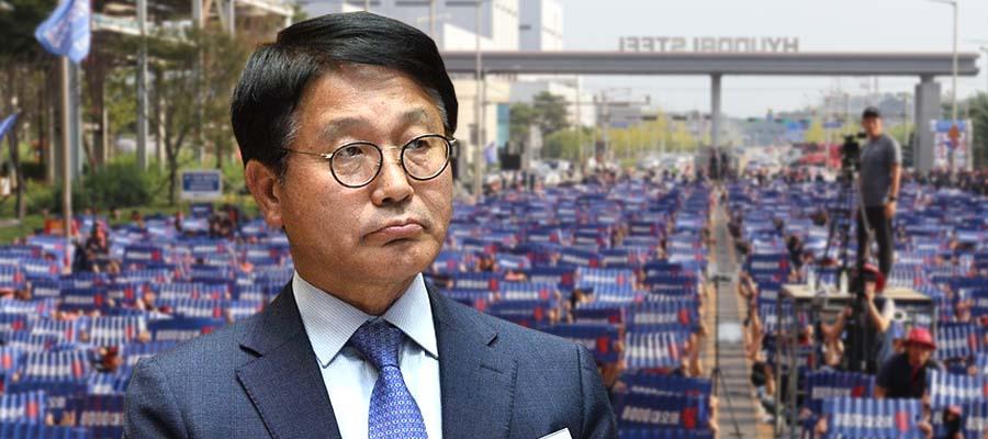 [오늘Who] 안동일, 현대제철 노조에 '실질임금 삭